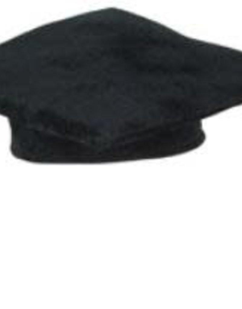 """10"""" MEDIUM BLACK PLUSH GRAD CAP 1/PKG"""