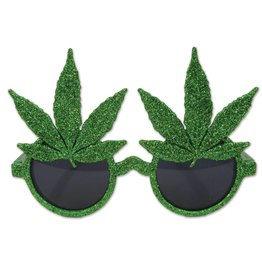 GLITTER WEED GLASSES ONE SIZE 1/CD