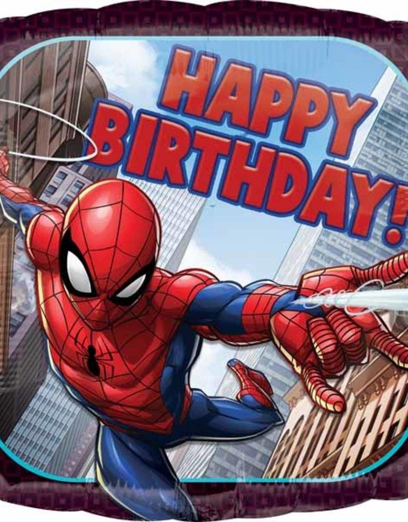 "Qualatex Spiderman Happy B-Day 18"""