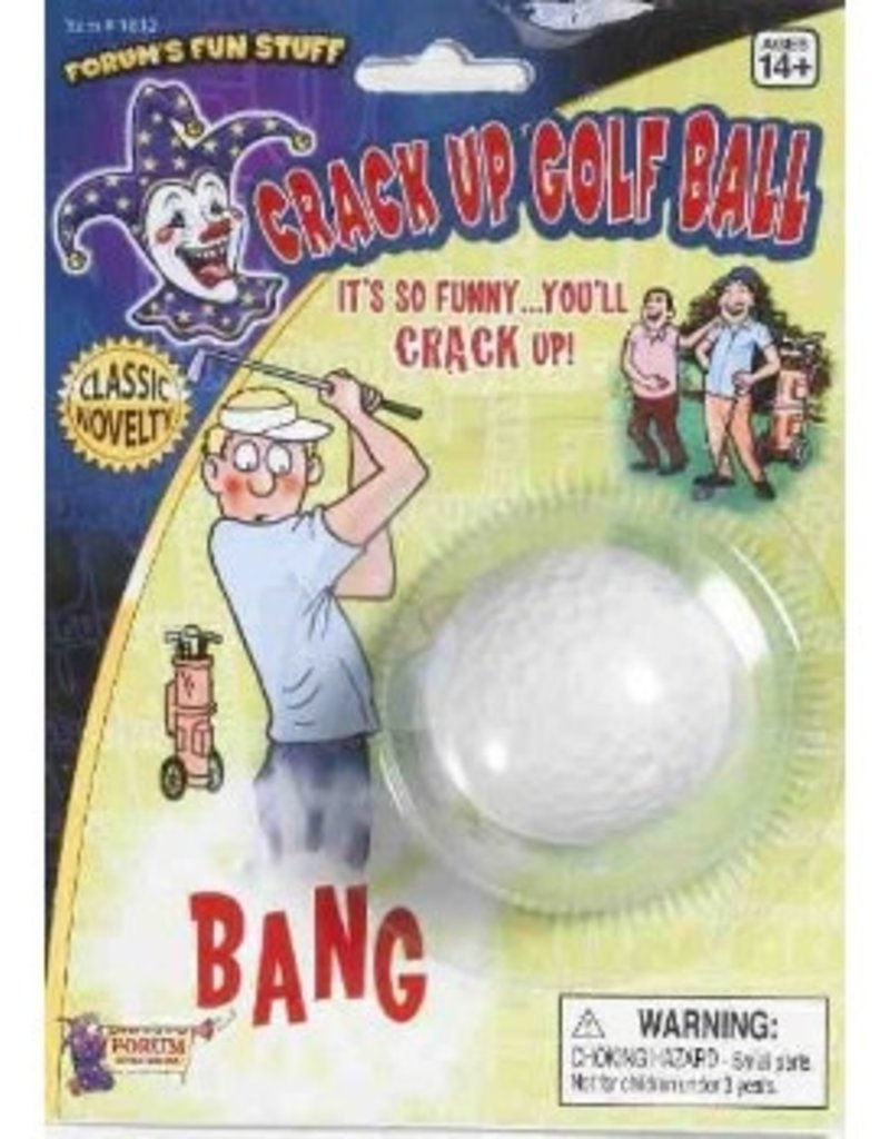 Crack Up Golf Ball