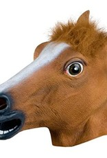 DELUXE BROWN LATEX HORSE MASK