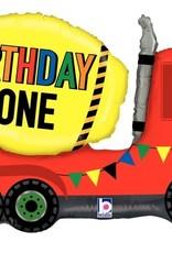 BIRTHDAY ZONE TRUCK FOIL SHAPE