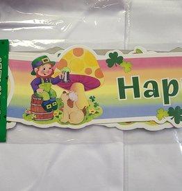 "St. Patrick's Day Banner Rainbow 35"""