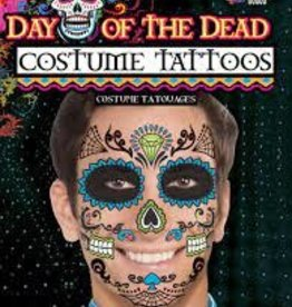 DAY OF DEAD TATTOO FACE-MALE