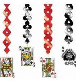 DANGLING CASINO CARD CUTOUT