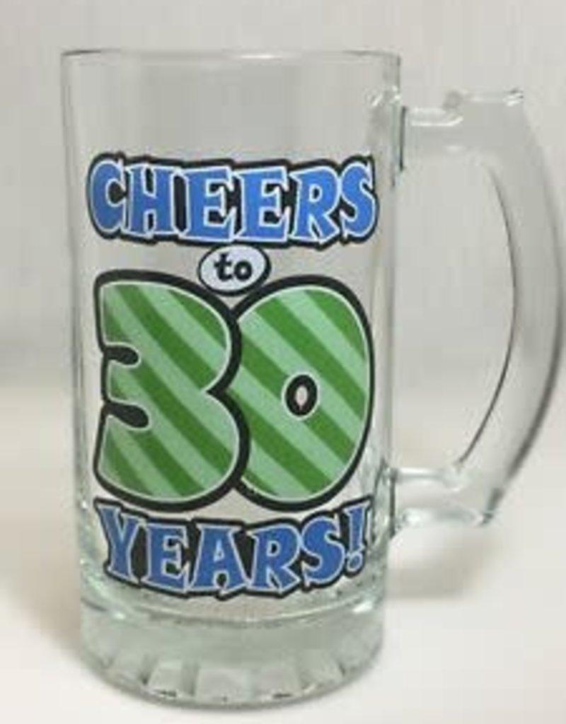 CHEERS TO 30 YEARS GLASS MUG