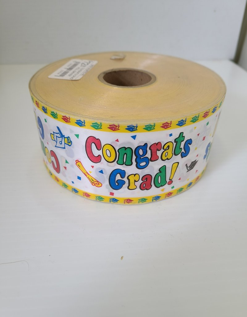 "CONGRATS GRAD ROLL BANNER 2.5"" x100y"