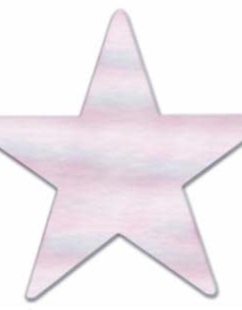 "3.5"" METALLIC STAR CUTOUTS OPAL 12/PKG"