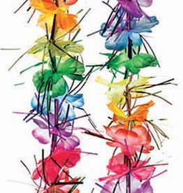 "40"" Rainbow Tinsel Lei"