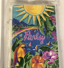 TROPICAL PARTY INVITATIONS 8PK