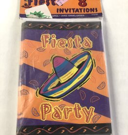 FIESTA PARTY INVITATIONS 8PK