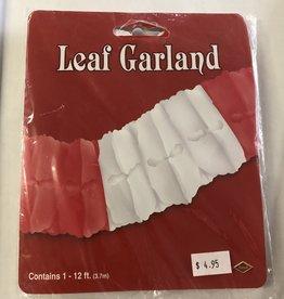 CANADA DAY LEAF PAPER GARLAND 12FT