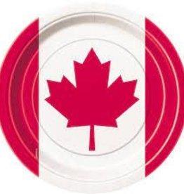 "CANADA DAY 9"" PLATES 8PK"