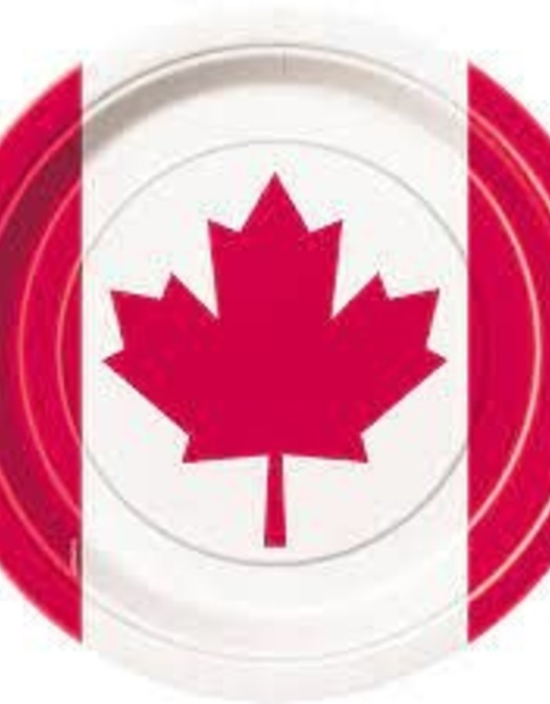 "CANADA DAY 9"" PLATES 8PK"