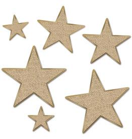 Gold star glitter foil cutouts