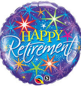 "18"" Retirement Colourful Bursts"