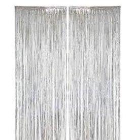 Metallic Fringe Door Curtain - 3x8 Silver