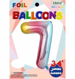 Qualatex Foil Jumbo Number 7 Helium Balloon