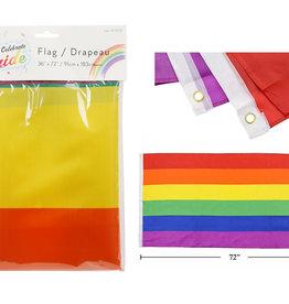 "Celebrate Pride Rainbow 36""x72"" Nylon Flag"