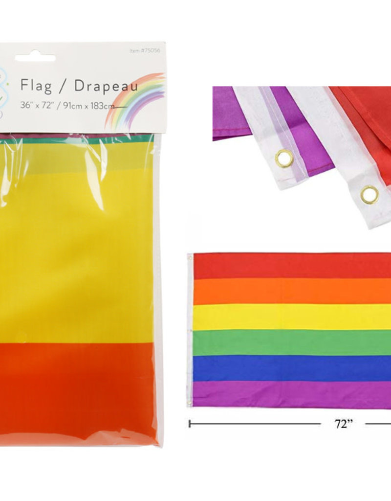"Celebrate Pride Rainbow 36""x72"" Nylon Flag"