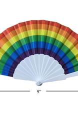 """Celebrate Pride Rainbow 9"""" Hand Folding Fan"""