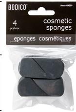 Bodico 4-pc Black Cosmetic Sponge
