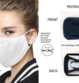 Washable Adult Face Mask - WHITE SNUG Fit