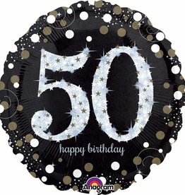 "Sparkling 50th B-day 18"""