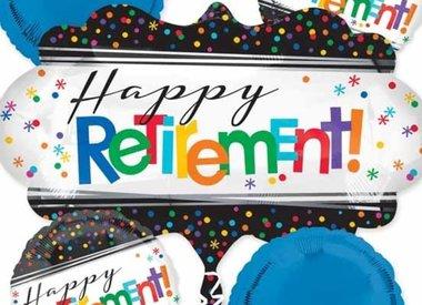 """18"""" Foil Happy Retirement"""