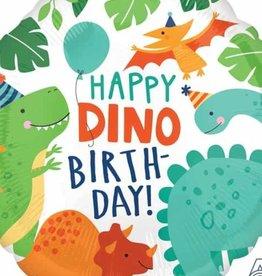 "Qualatex Happy Dino Birthday 18"""