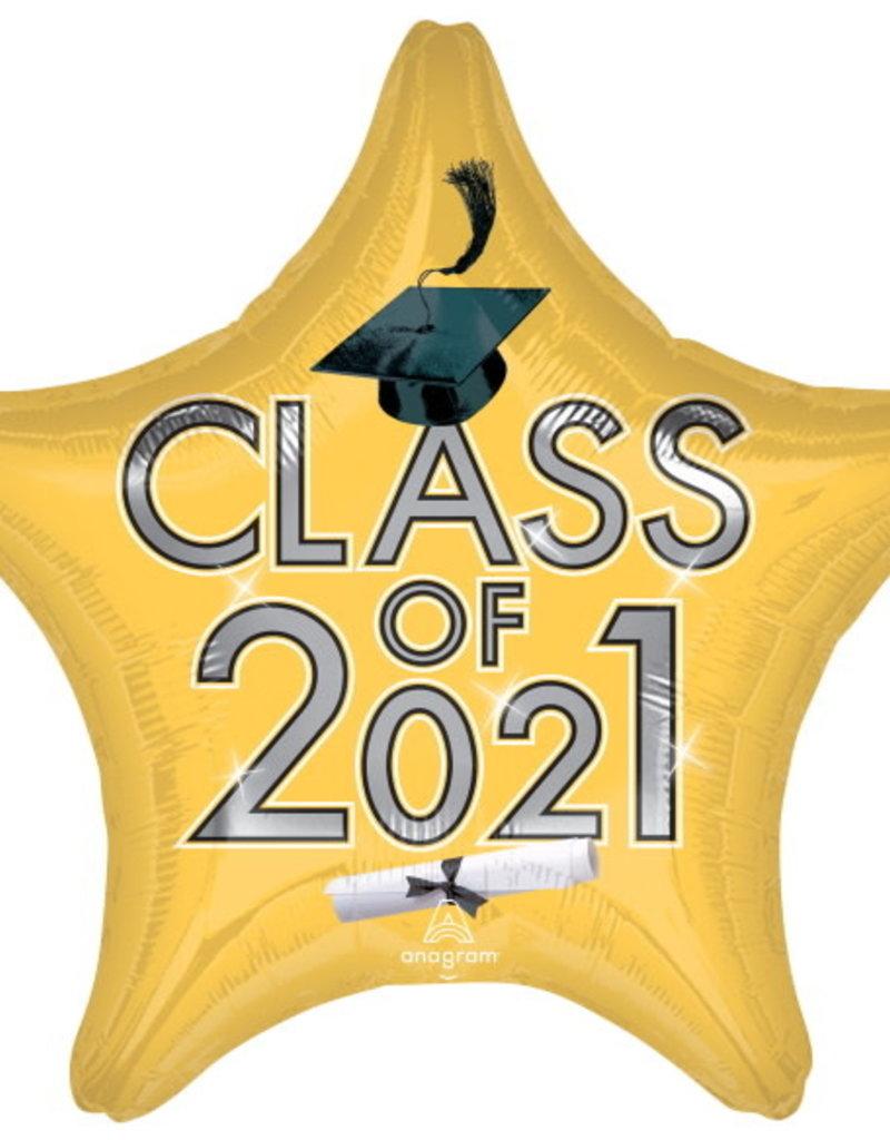 "CLASS OF 2021 Gold 19"" STAR"