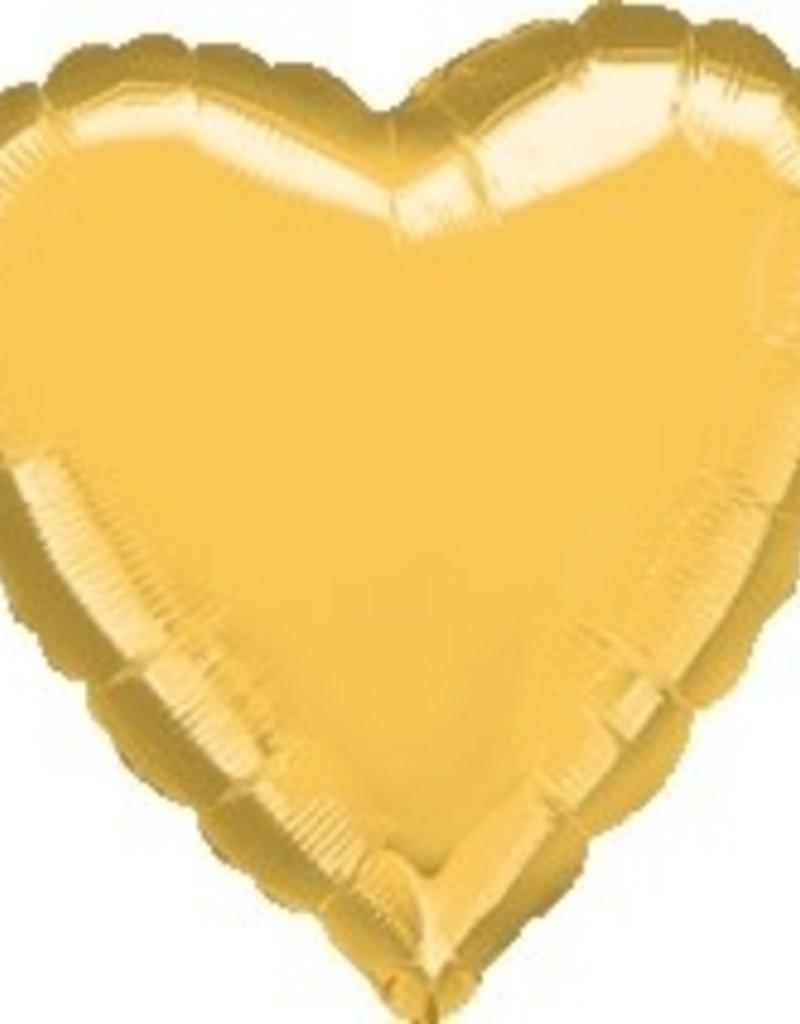 "Qualatex 18"" GOLD HEART"