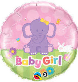"Qualatex Baby Girl Elephant 18"""