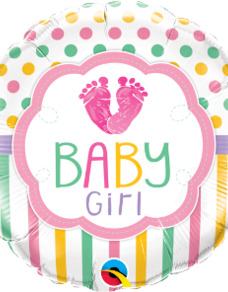 "Qualatex Baby Girl Feet 18"""