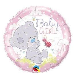 "Qualatex Baby Girl Teddy Bear 18"""