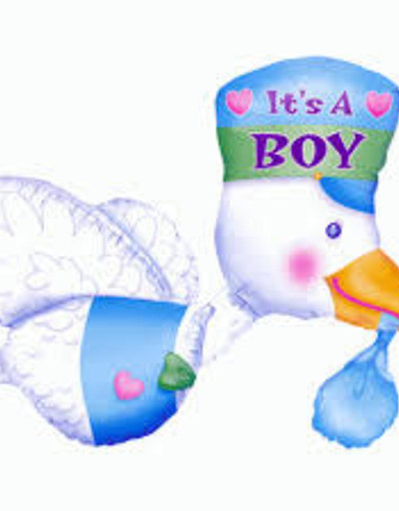 Qualatex It's A Boy Stork SuperShape