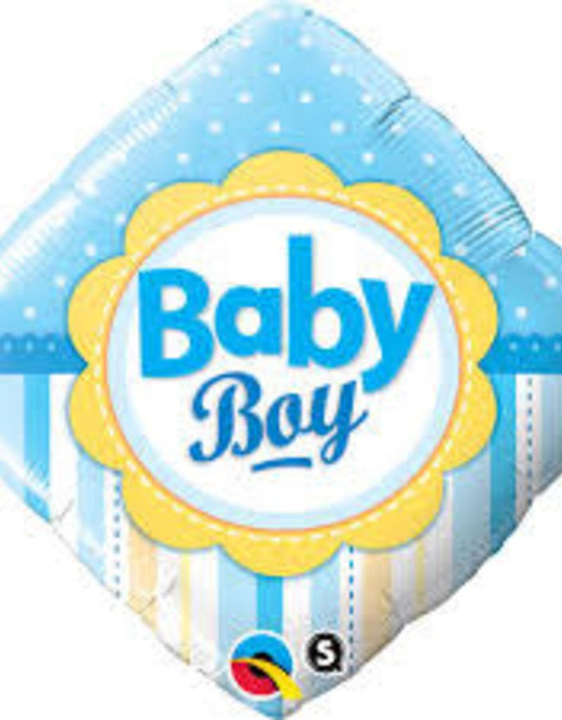 "Qualatex Baby Boy Square 18"""