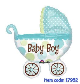 Qualatex Baby Boy Stroller SuperShape