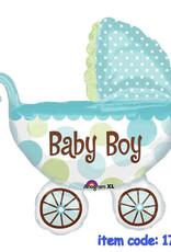 Qualatex Baby Boy Stroller SuperShape (flat)