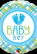 """Qualatex Baby Boy Feet 18"""""""