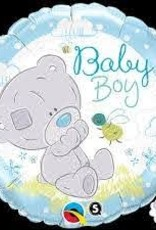 """Qualatex Baby Boy Teddy Bear 18"""""""