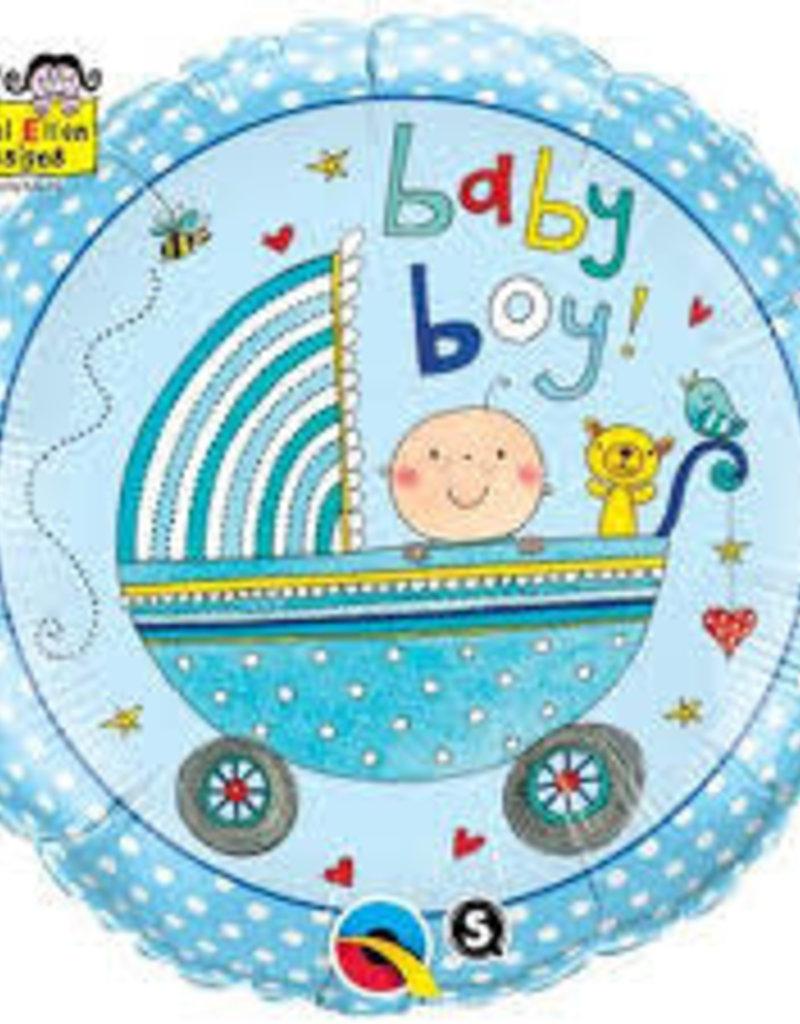 """Qualatex Baby Boy Stroller 18"""""""