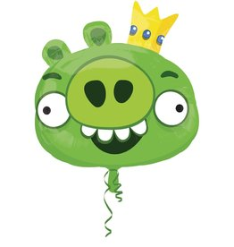 Qualatex Green Angry Bird SuperShape (FLAT)