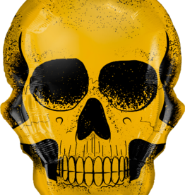 Qualatex Gold Skull SuperShape