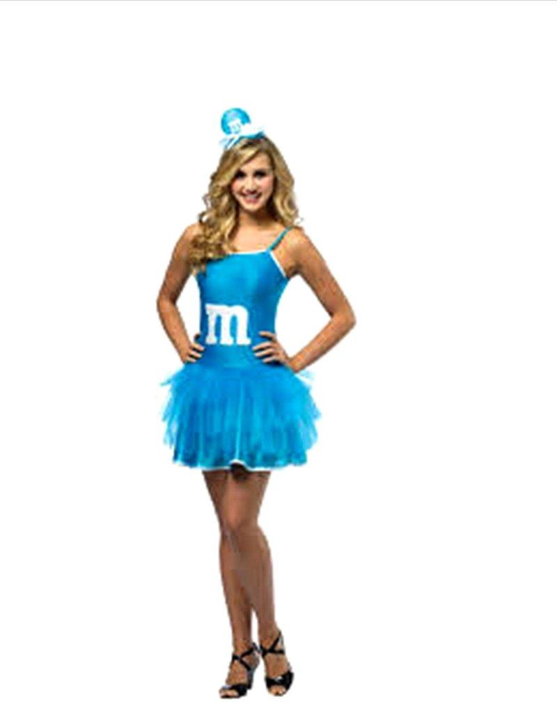 Blue M&M Party Dress - S/M
