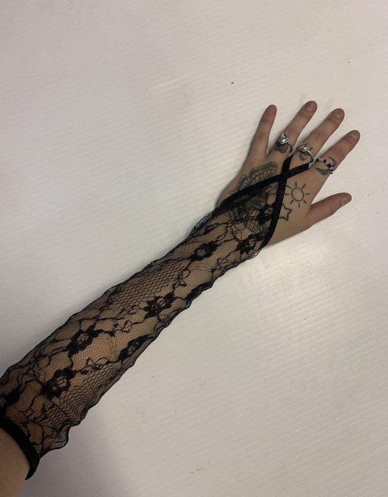 Black Lace Glovelettes