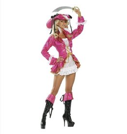 Roma Sexy Pink Pirate Dress/Swashbuckler - M/L