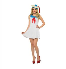 Stay Puft Flare Dress - S