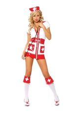 Flirty Nurse Four-Piece - XL
