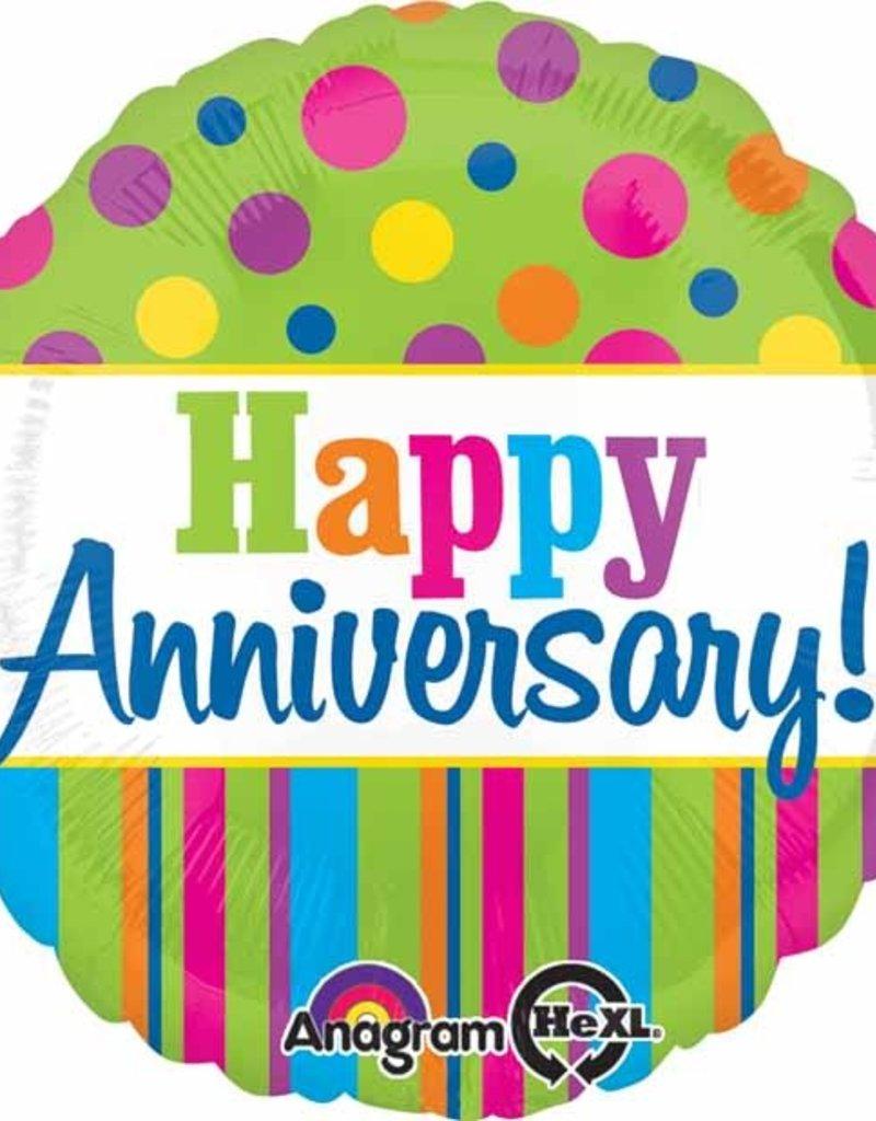 "18"" Bright Happy Anniversary"